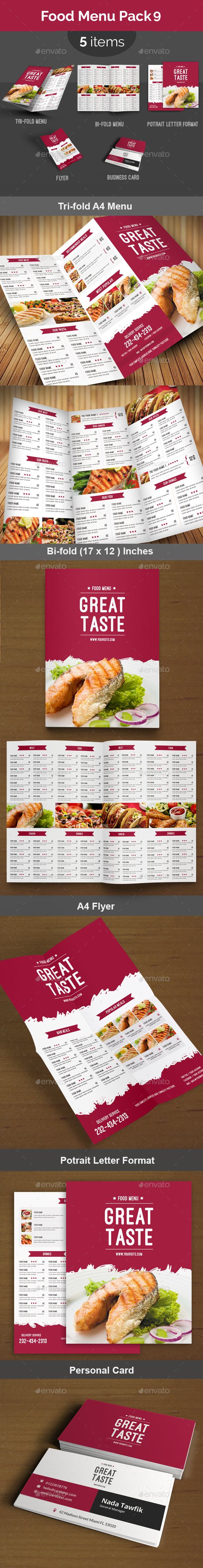 Food Menu Pack 9 - Food Menus Print Templates