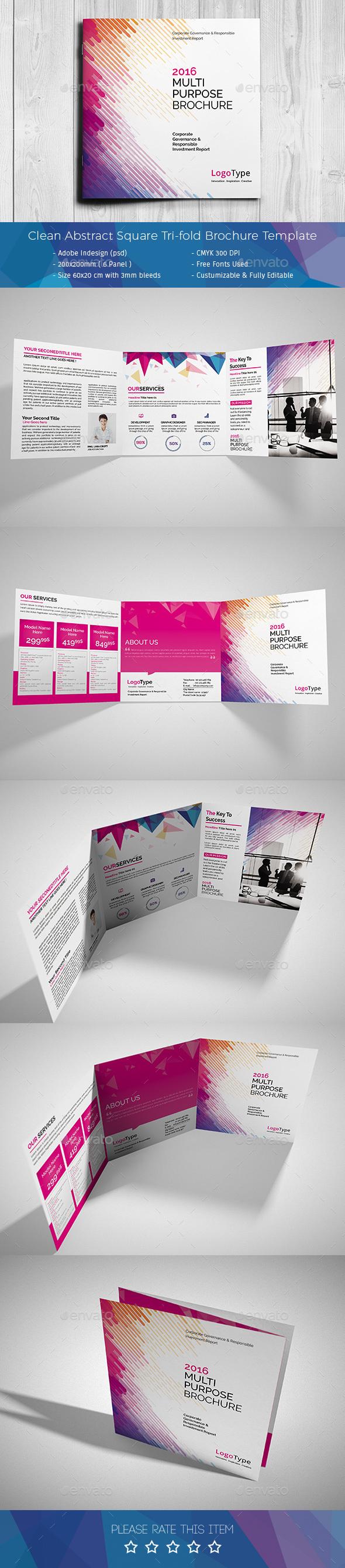 Corporate Tri-fold Square Brochure 05 - Corporate Brochures