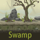 Seamless background for computer game swamp - GraphicRiver Item for Sale