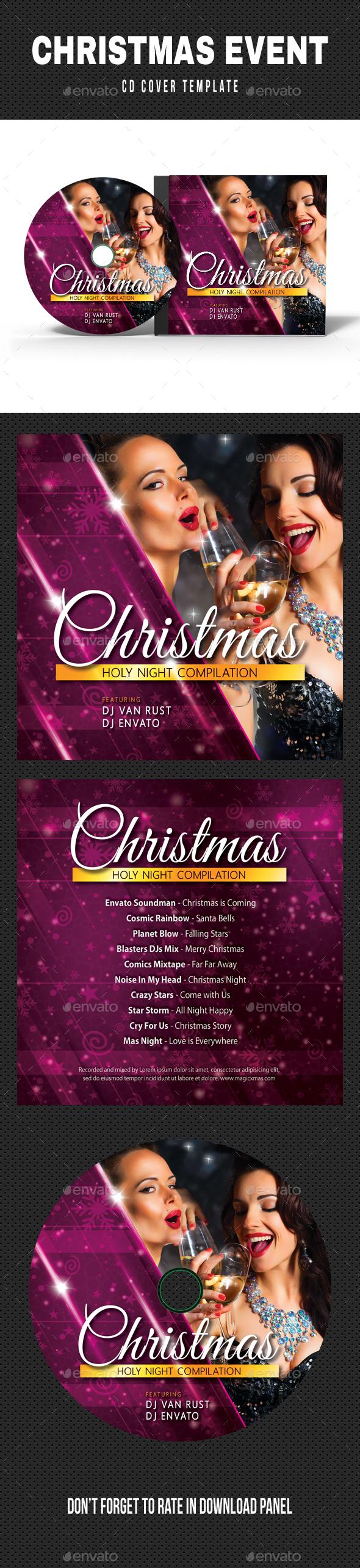 Merry Christmas CD Cover Artwork - CD & DVD Artwork Print Templates