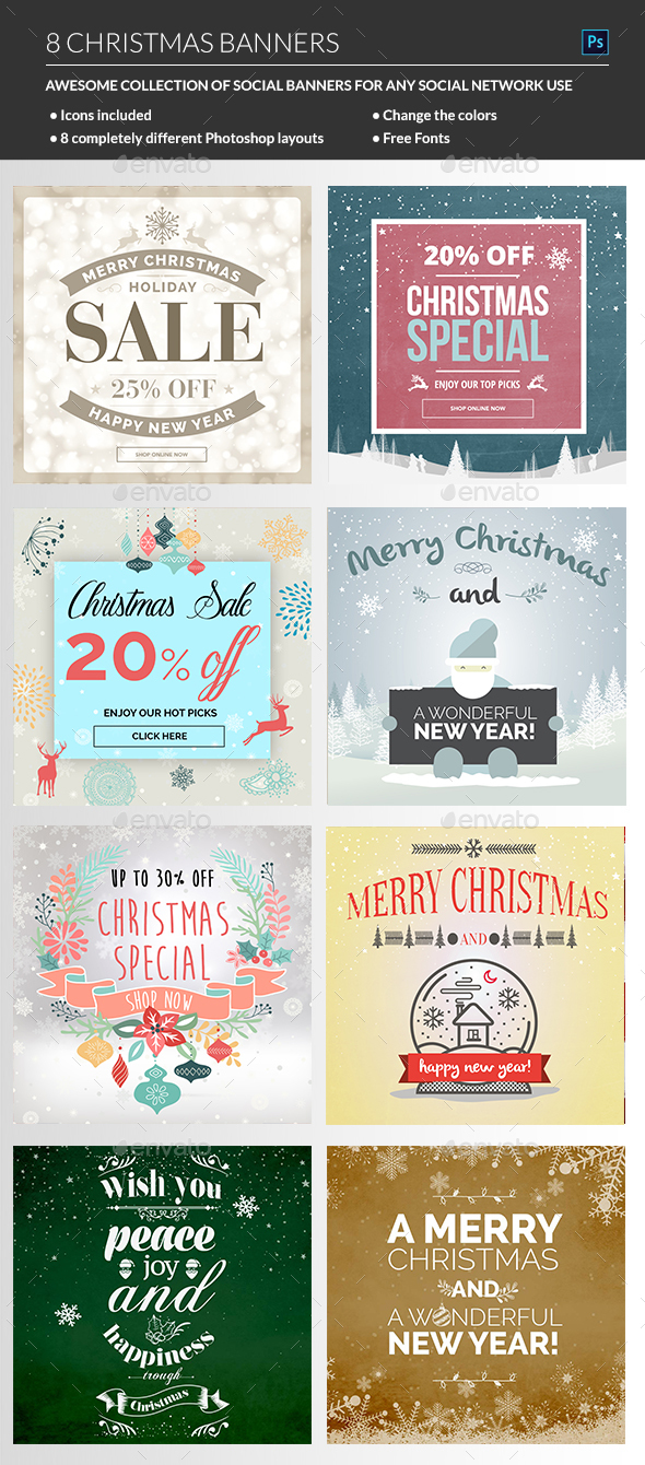 Christmas Banners - Banners & Ads Web Elements