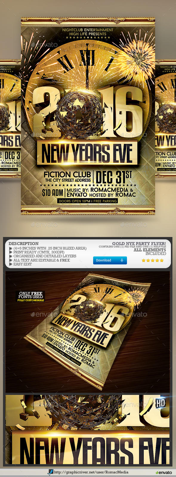 Gold NYE Party - Clubs & Parties Events