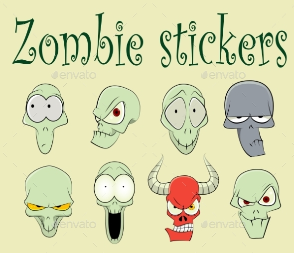 Characters of Zombies Illustration - Miscellaneous Characters