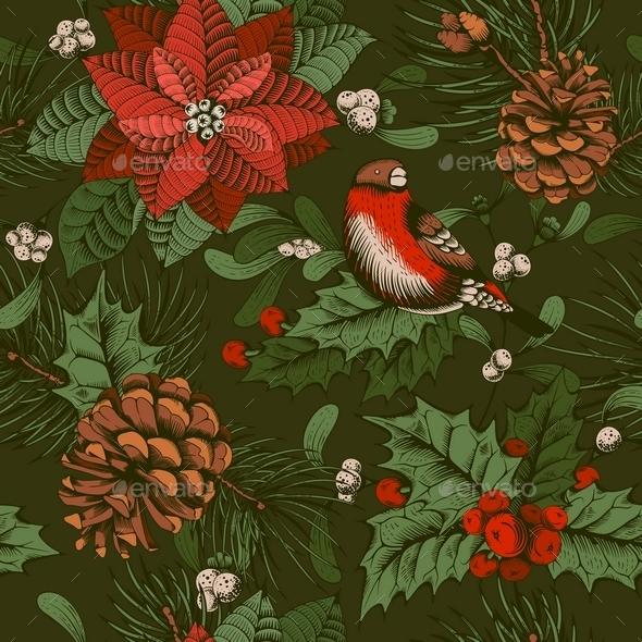 Winter Seamless Pattern - Christmas Seasons/Holidays