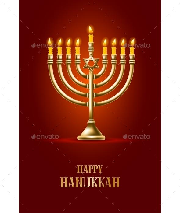 Happy Hanukkah - Religion Conceptual