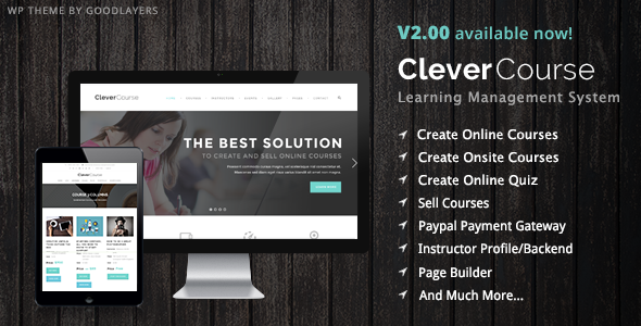 Clever Course Learning Management System Theme by GoodLayers – Online Quiz Templates