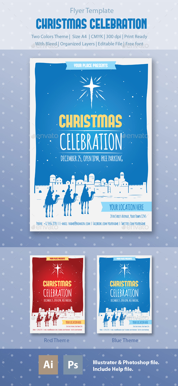 Christmas Celebration Flyer Template - Holidays Events