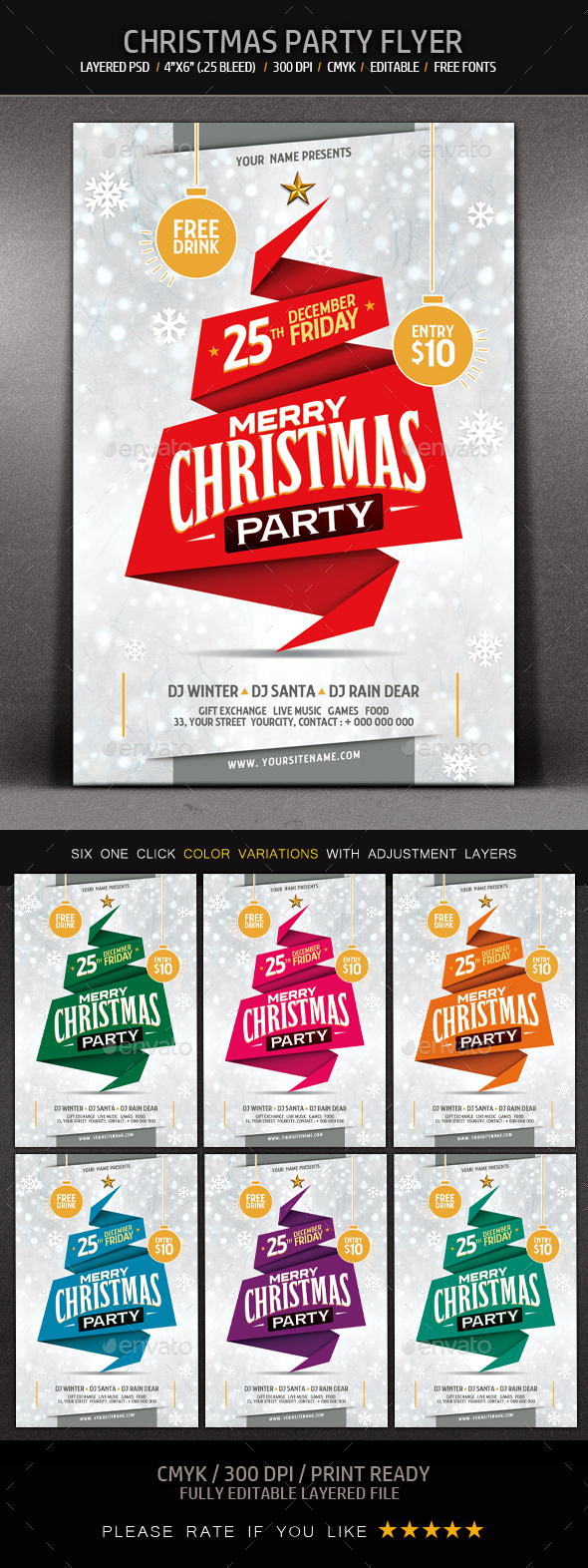 Christmas Party Flyer - Events Flyers