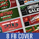 Christmas & New Year Sale Facebook Covers - GraphicRiver Item for Sale