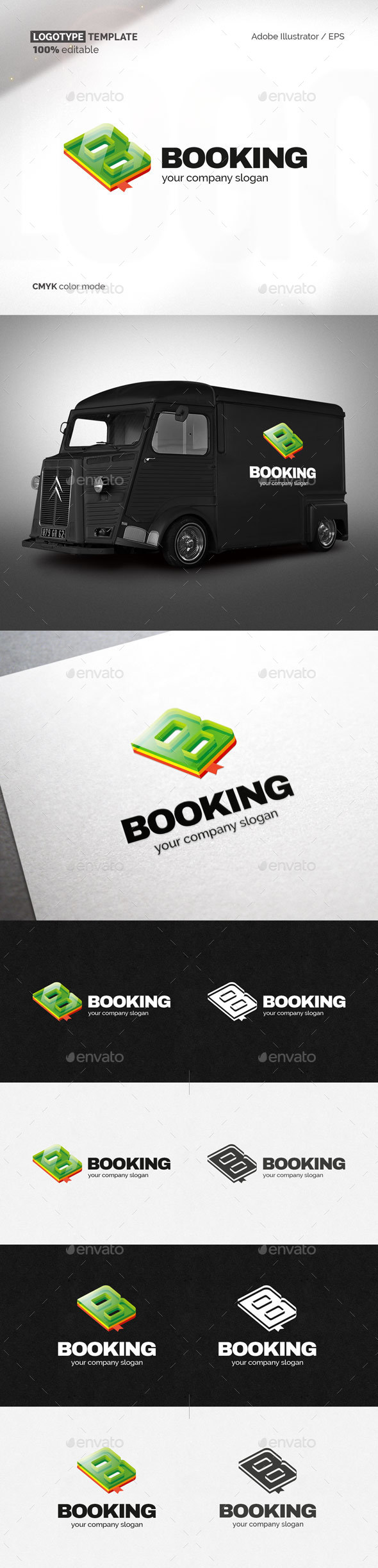 Book King Logotype Template - Letters Logo Templates