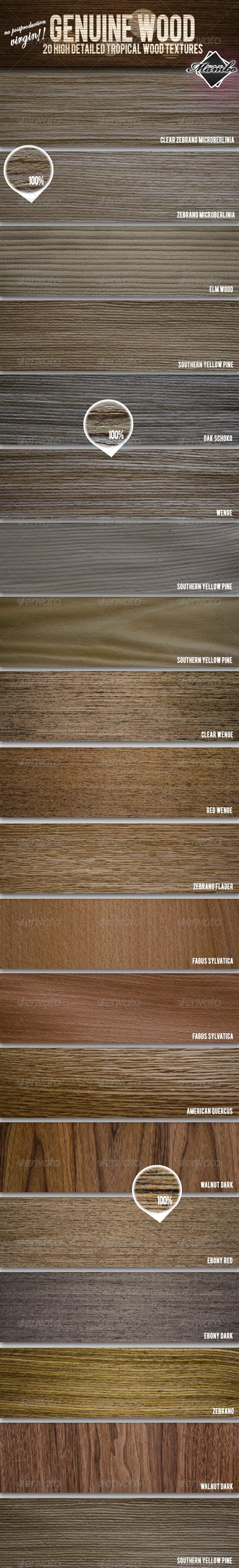 Genuine Wood - 20 Tropical Wood Textures - Wood Textures