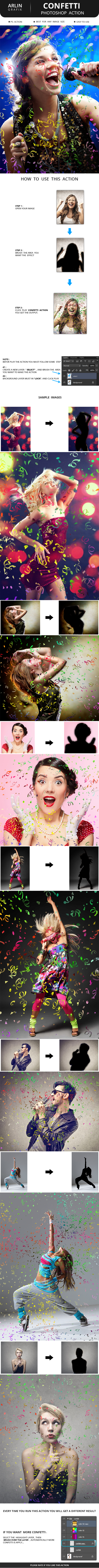 Confetti Photoshop Action - Photo Effects Actions