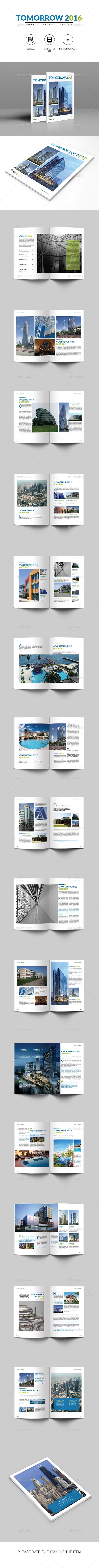 Architectural Magazine | Tomorrow 2016 - Magazines Print Templates