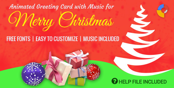 gwd animated musical merry christmas greeting codecanyon item for sale - Animated Christmas Greetings