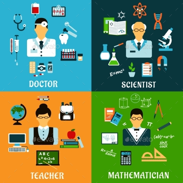 Doctor Teacher Scientist and Mathematician - Miscellaneous Conceptual