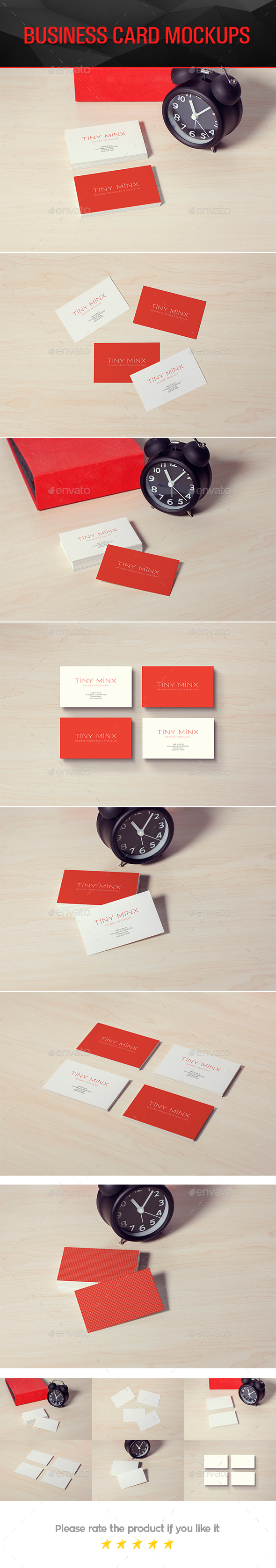 Photorealistic Business Card Mockups - Business Cards Print