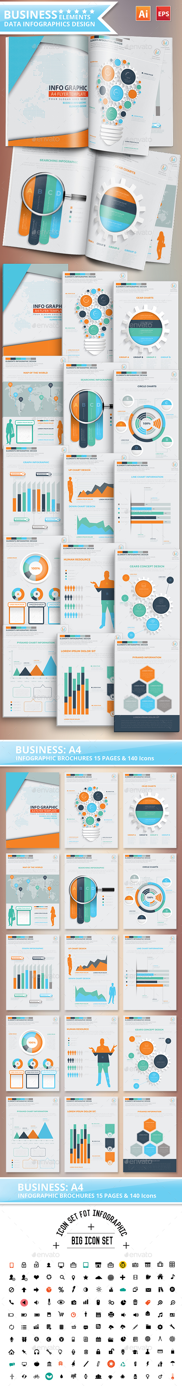 Business Infographics 15 Pages Design - Infographics