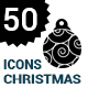 50 christmas ball Icons - GraphicRiver Item for Sale