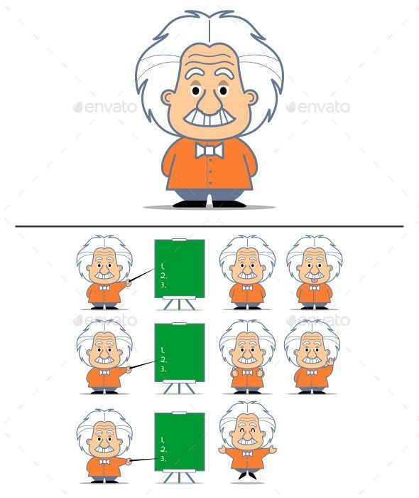 Albert Einstein Character - People Characters