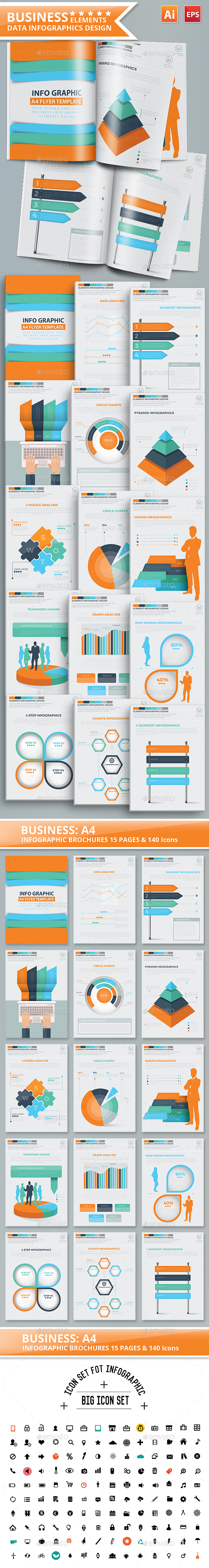 Business Infographics 15 Pages Design Part 2 - Infographics
