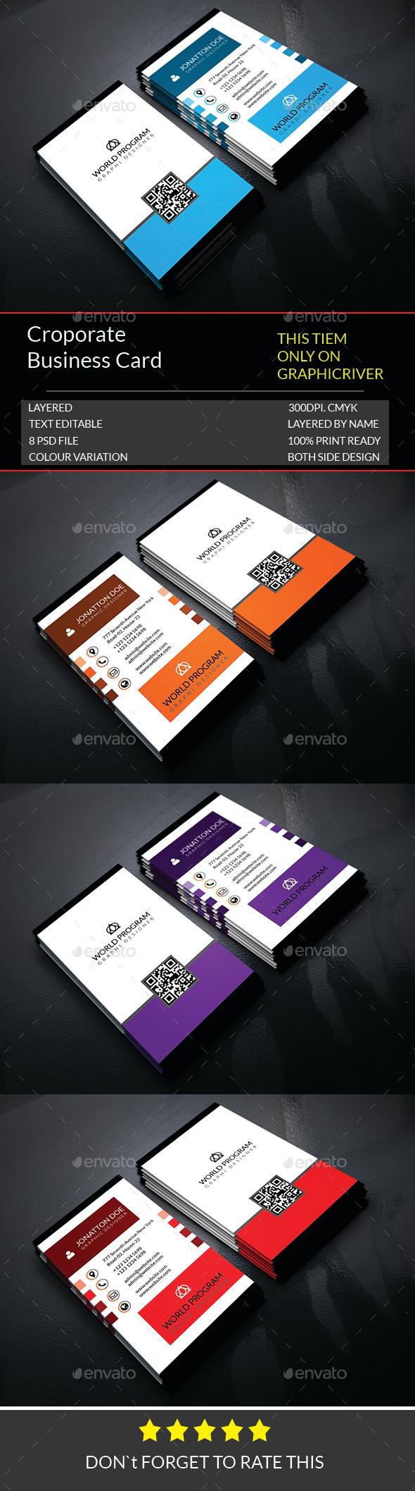 Corporate Business Card Template.177 - Corporate Business Cards
