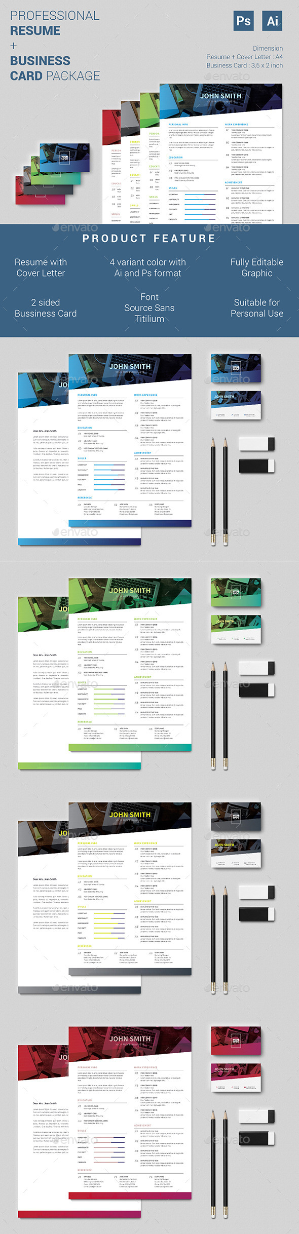 Resume and Business Card Package