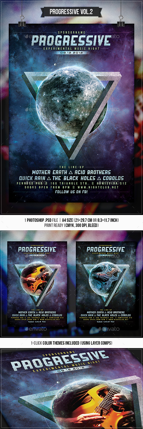 Progressive Rock Vol.2 - Flyer & Poster - Concerts Events