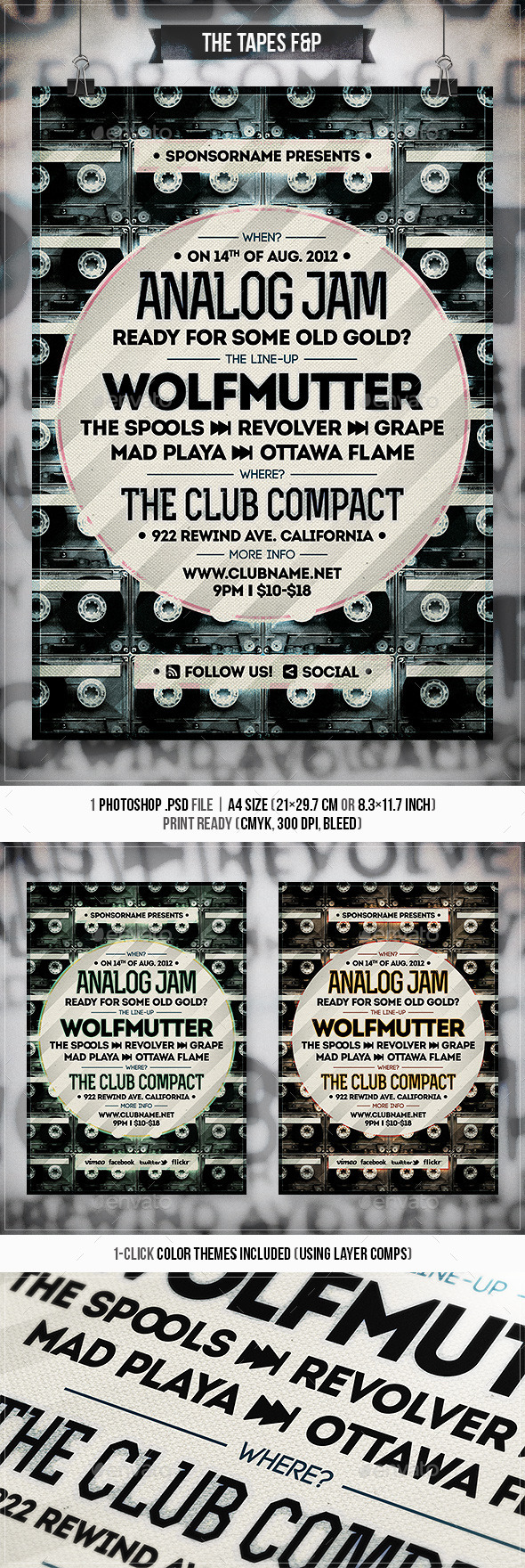 The Tapes - Flyer & Poster - Concerts Events