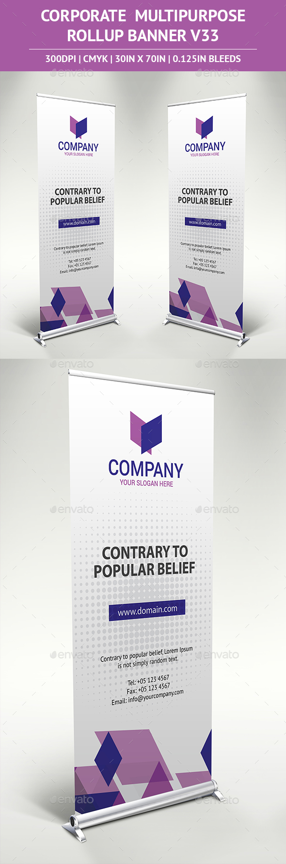 Rollup Banner Vol33 - Signage Print Templates