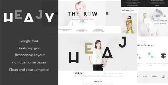 Heajy – Responsive Fashion HTML5 Template
