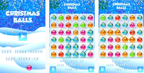 Christmas Balls - HTML5 Game Android+AdMob (Capx) - CodeCanyon Item for Sale