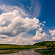 Summer Lake and Flying Clouds - VideoHive Item for Sale