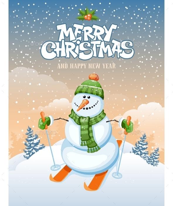 Cute Snowman - Christmas Seasons/Holidays