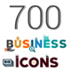 700 Flat Business Icons - GraphicRiver Item for Sale
