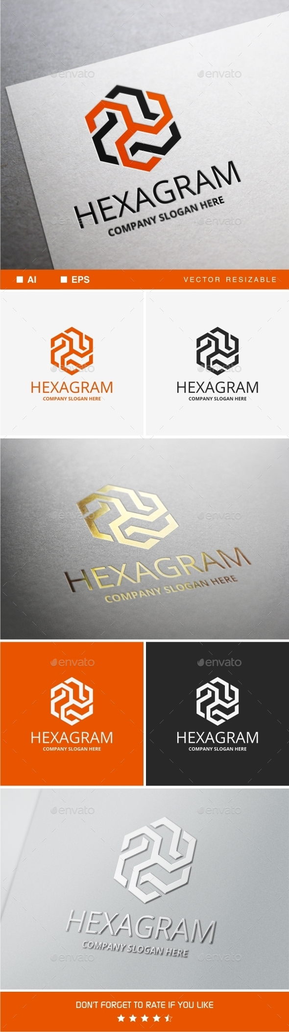 Hexagram Logo - Vector Abstract