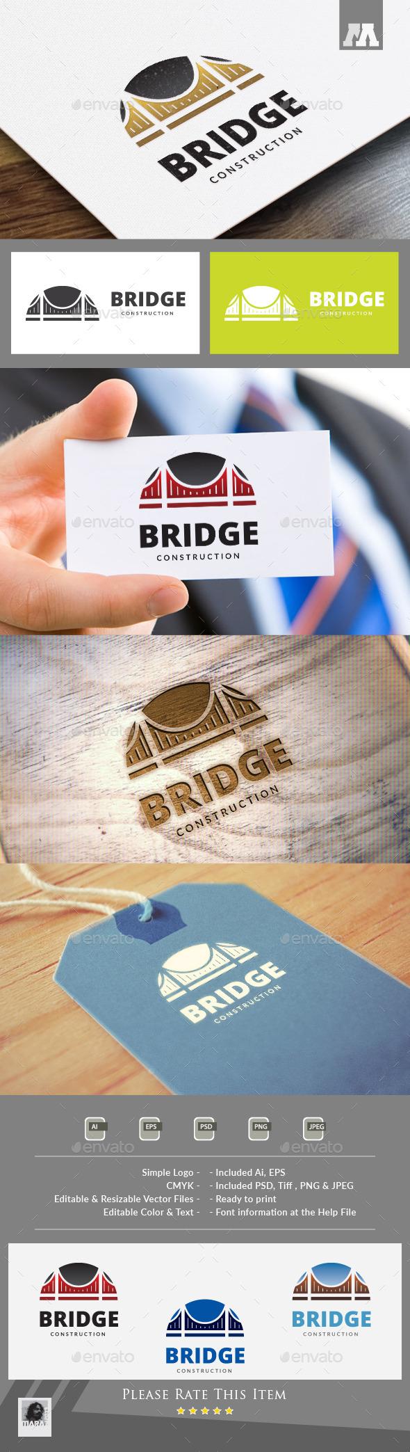 Bridge Logo Template - Buildings Logo Templates