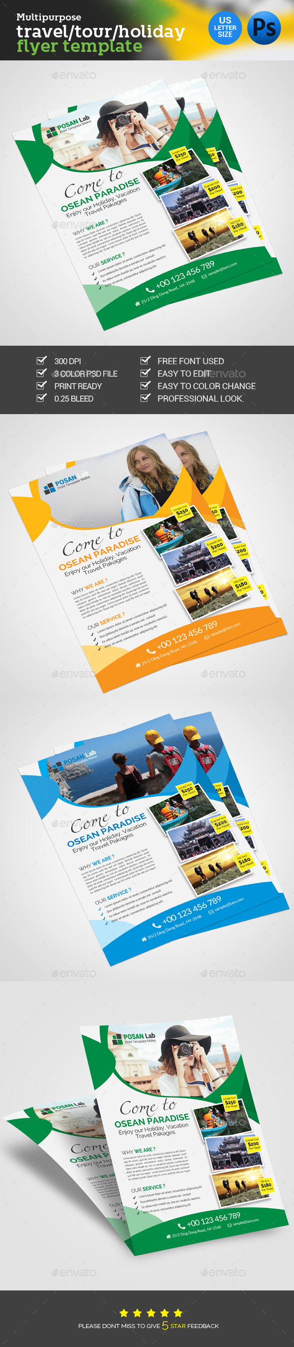 Holiday Travel Flyer - Commerce Flyers