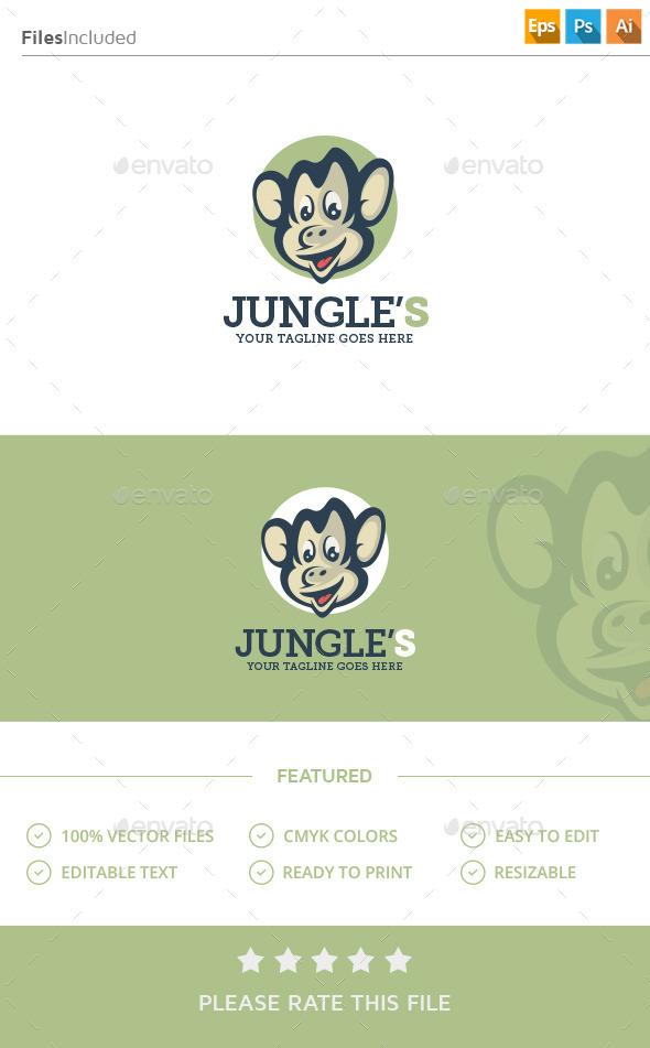 Monkey Logo - Animals Logo Templates