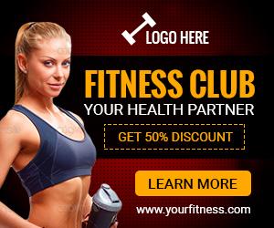GWD - Fitness Club & Gym Banner - 7 Sizes