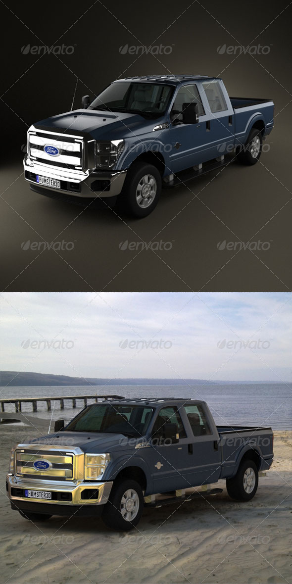 Ford Super Duty CrewCab 2011  - 3DOcean Item for Sale