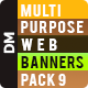 Multipurpose Web Banners Pack 9 - GraphicRiver Item for Sale