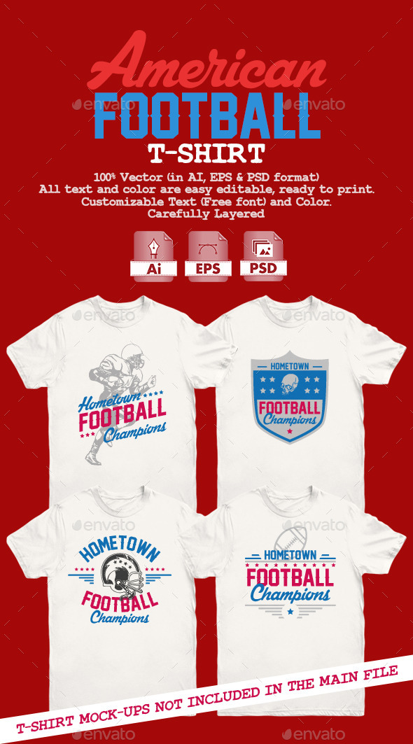 American Football T-Shirt - Sports & Teams T-Shirts