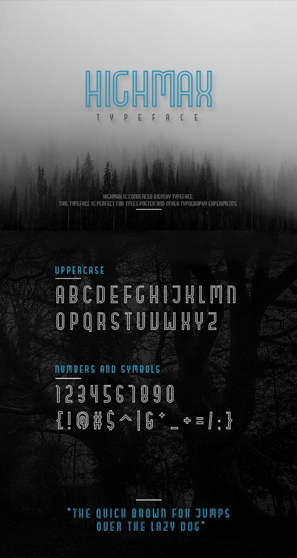 HIGHMAX Outline - Condensed Sans-Serif