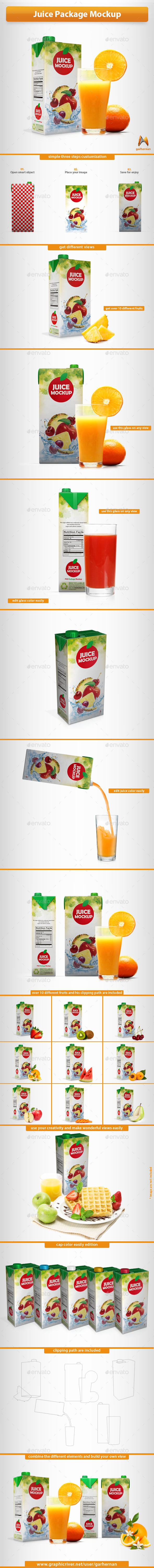 Juice Package Mockup
