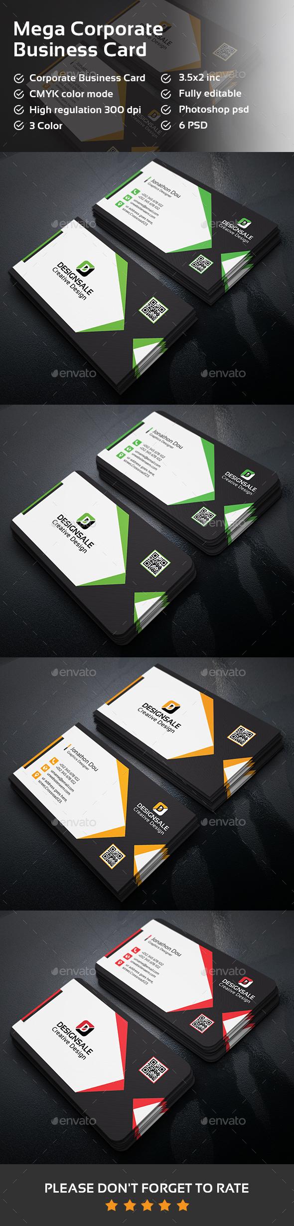 Mega Corporate Business Card - Corporate Business Cards