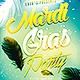 Mardi Gras Party Flyer - GraphicRiver Item for Sale