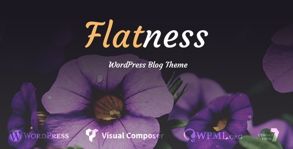 Flatness - Personal Wordpress Blog Theme - Personal Blog / Magazine