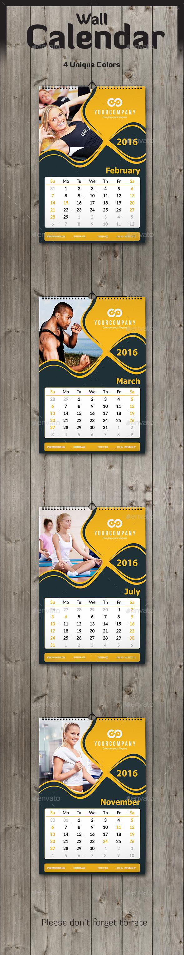 Wall Calendar 2016 - Calendars Stationery
