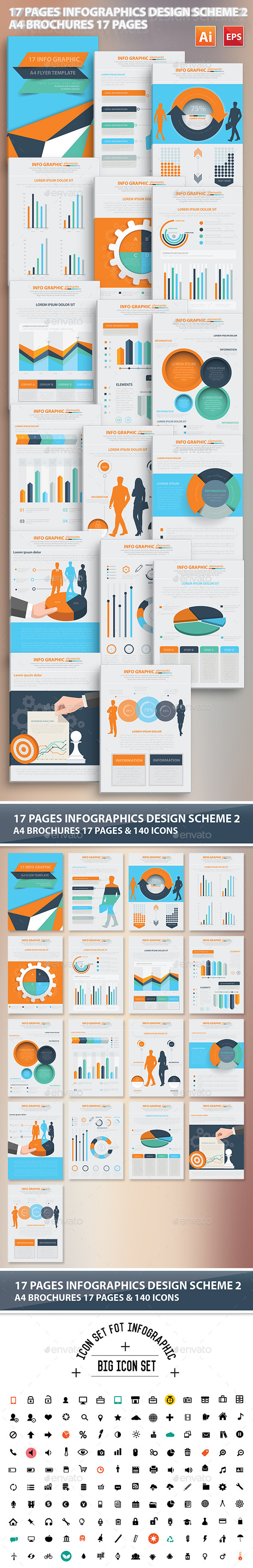 17 Pages Infographics Design Scheme 2 - Infographics
