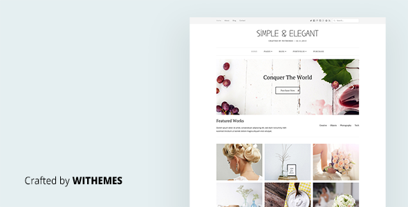 Simple & Elegant – Multi-Purpose WordPress Theme